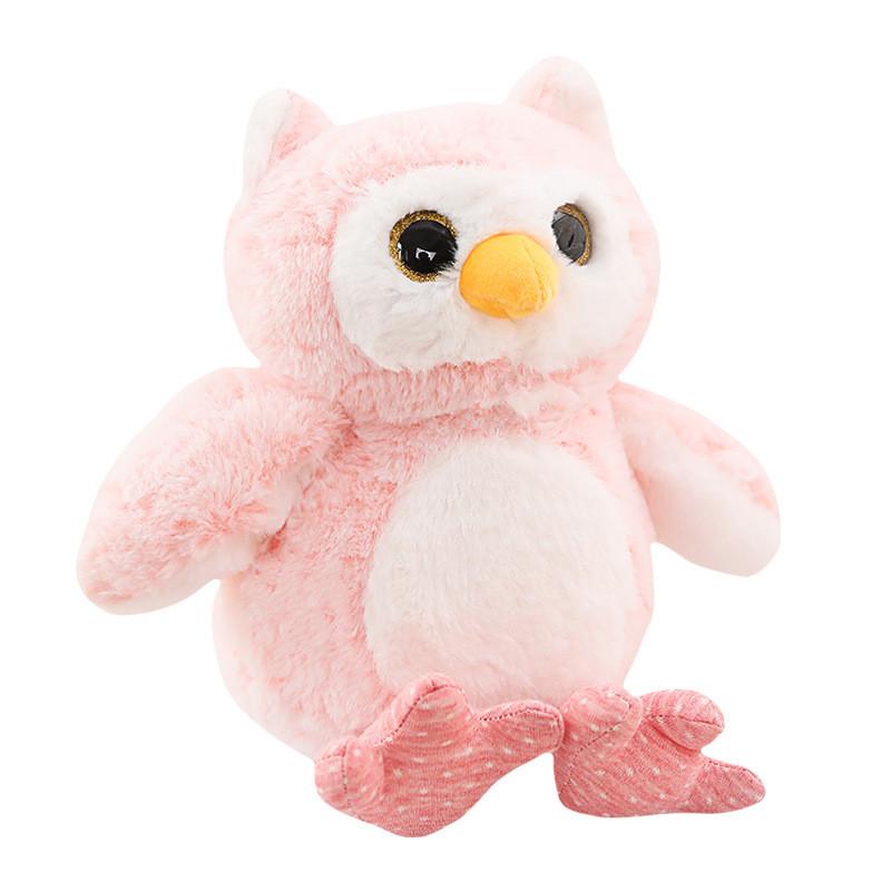 Мягкая игрушка - Розовый совушек, 30см Berni Kids