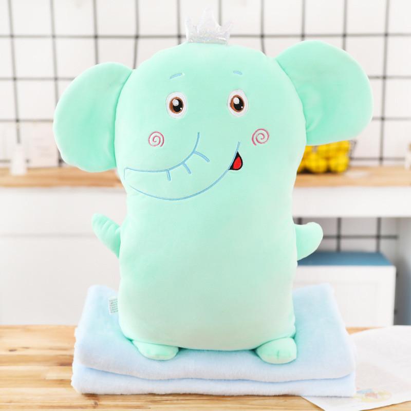 Мягкая игрушка - подушка с пледом Плюшевый слон, 50см Berni Kids
