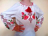 Вышиванка для девочки длинный рукав Зоряна, фото 1