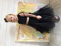 Детское платье чёрное