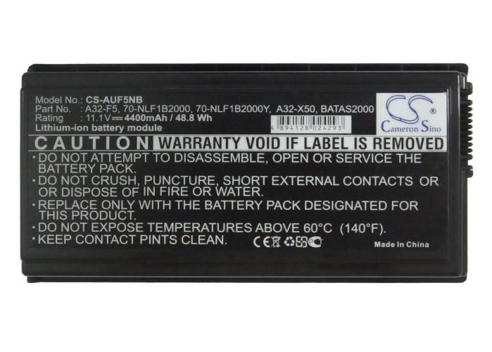 Аккумулятор Asus 70-NLF1B2000Y, 70-NLF1B2000Z, A32-X50, A32-F5