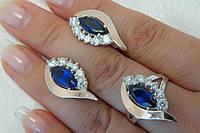 Набор ювелирных украшений из серебра с золотыми накладками