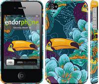 """Чехол на iPhone 4 Тропики """"2852c-15"""""""