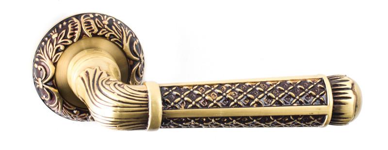 Ручки дверні Safita R08 H195 RAC - античне золото