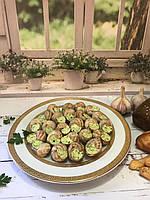 Улитки по-Бургундски, упаковка 12 шт/тарелка ,фольгированная ( полуфабрикат).