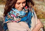 Бал маскарад 982-12, павлопосадский платок шерстяной с шелковой бахромой, фото 7