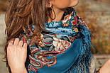 Бал маскарад 982-12, павлопосадский платок шерстяной с шелковой бахромой, фото 8