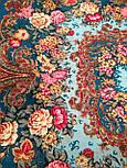 Бал маскарад 982-12, павлопосадский платок шерстяной с шелковой бахромой, фото 5