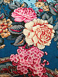 Бал маскарад 982-12, павлопосадский платок шерстяной с шелковой бахромой, фото 3