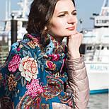 Бал маскарад 982-12, павлопосадский платок шерстяной с шелковой бахромой, фото 6
