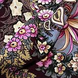Над серебряной водой 734-7, павлопосадский платок шерстяной  с шерстяной бахромой, фото 6