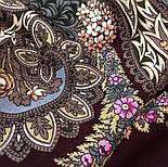 Над серебряной водой 734-7, павлопосадский платок шерстяной  с шерстяной бахромой, фото 8