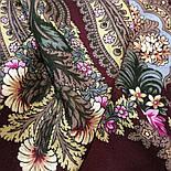 Над серебряной водой 734-7, павлопосадский платок шерстяной  с шерстяной бахромой, фото 9