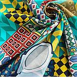10816-11, павлопосадский платок на голову хлопковый (саржа) с подрубкой, фото 8