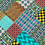 10816-11, павлопосадский платок на голову хлопковый (саржа) с подрубкой, фото 4