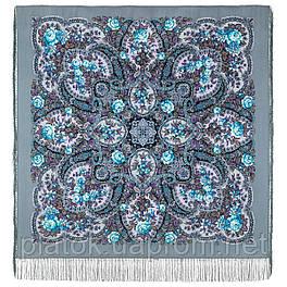 Время чудес 1882-11, павлопосадский платок шерстяной с шелковой бахромой