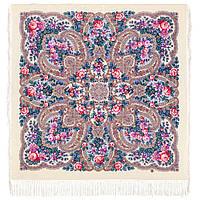Время чудес 1882-0, павлопосадский платок шерстяной с шелковой бахромой