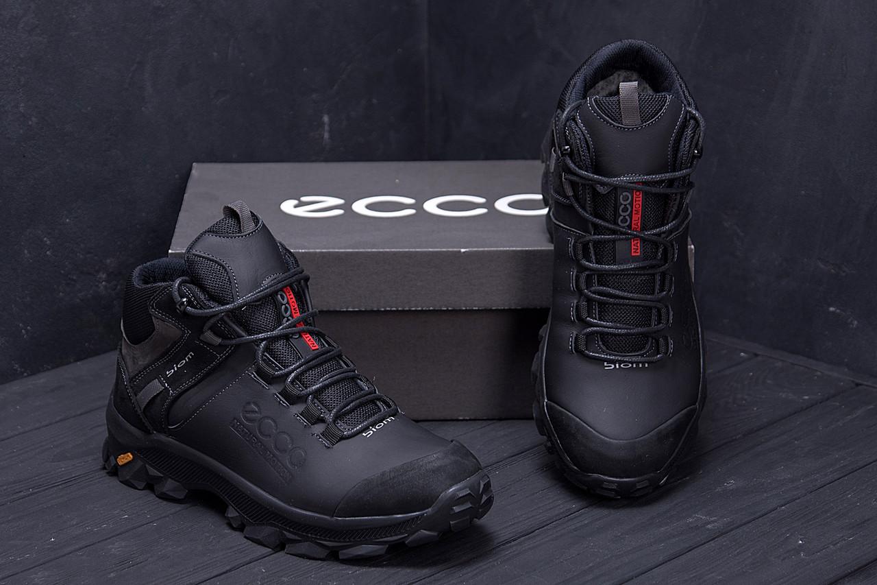 Мужские зимние кожаные ботинки Ecco biom  (реплика) 8