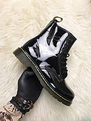 Женские ботинки Dr Martens 1460 Black Gloss демисезонные (черный)