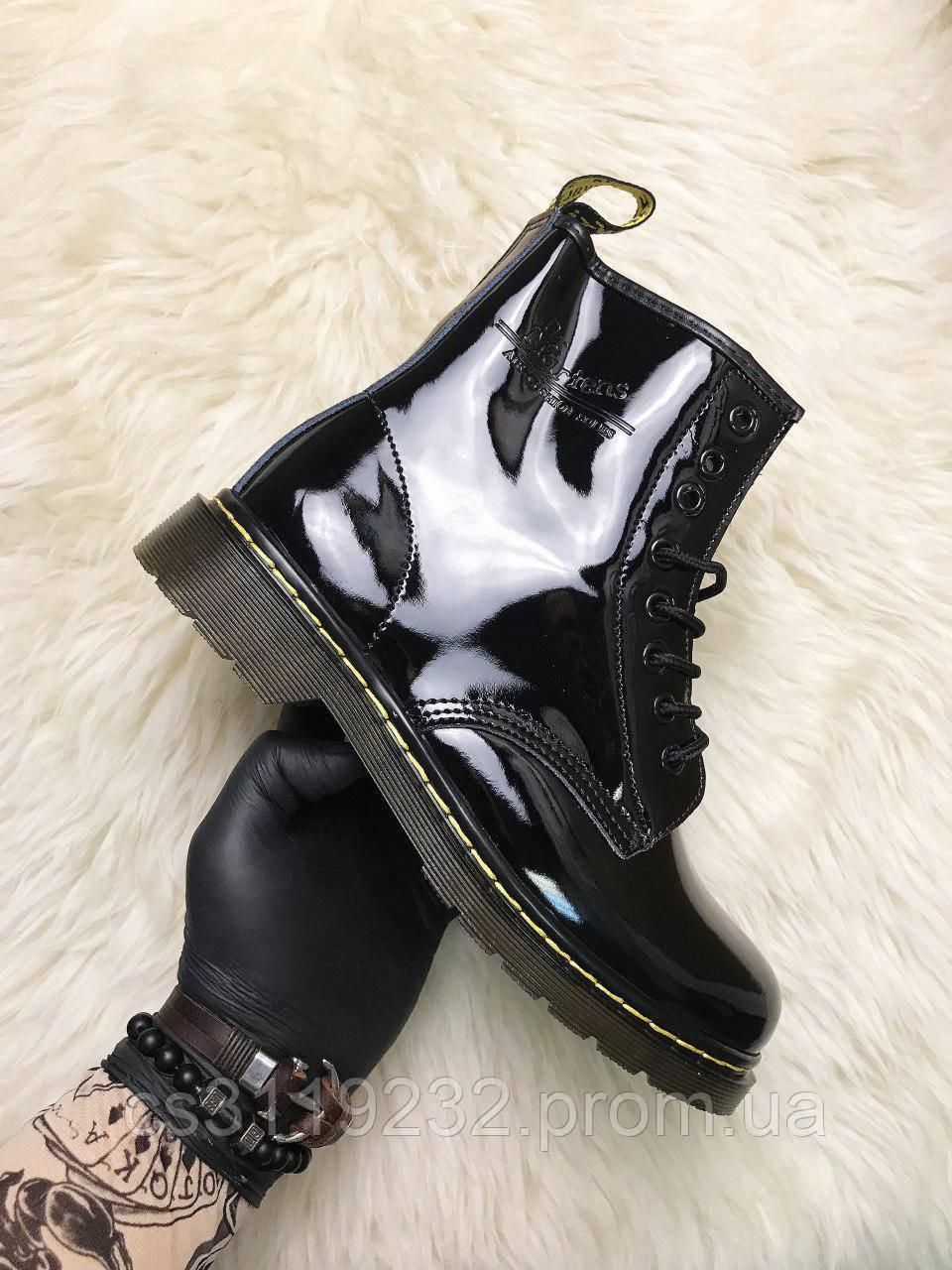 Женские ботинки Dr Martens 1460 демисезонные (черный)