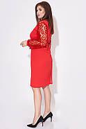 / Размер 48-50,52-54 / Женское платье миди / цвет красный, фото 2