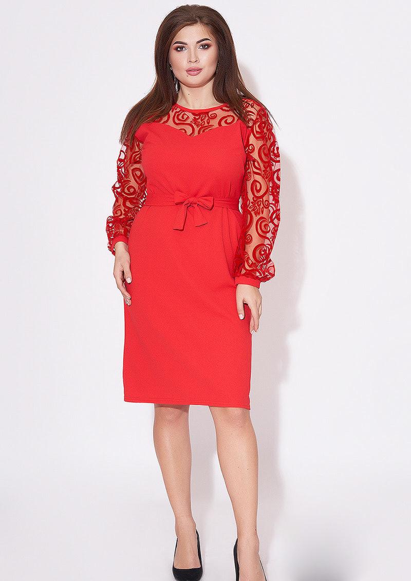 / Размер 48-50,52-54 / Женское платье миди / цвет красный