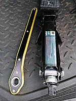 Домкрат механический трещетка с резинкой. 1,5тонны 104/385мм. Металлические втулки.