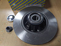 "Тормозной диск задний с подшипником 280mm +ABS на Renault Trafic II 2001->2014 ""SNR"" KF155.70U - Франция, фото 1"