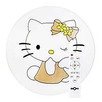 Детская люстра с пультом Hello Kitty