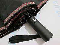 Мужской зонт складной на 12 спиц  автомат ровная ручка двусторонний бордовый, фото 1