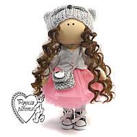 Лялька Кішечка ручної роботи, текстильна, середня