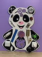 "Развивающая деревянная игрушка ""БизиПанда"" busy board ""Панда"" 50*60 см"