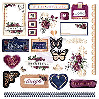 Висічки - Shapes, Tags, Words, Foiled Accents - Darcelle - Prima Marketing - 26 шт.