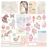 Висічки - Shapes, Tags, Words, Foiled Accents - Dulce - Prima Marketing - 38 шт.