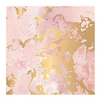 Калька з фольгуванням - Indigo & Ivy - Pink Paislee - 30x30