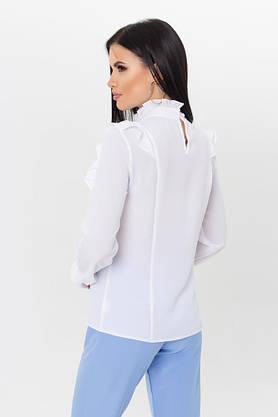 Нарядная белая блузка с рюшами, фото 3