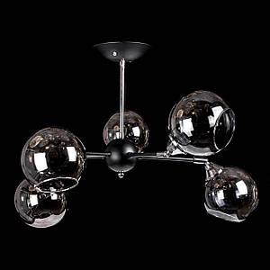 Люстра в стилі лофт на 5 лампочок P5-N3470/5/BK+CH
