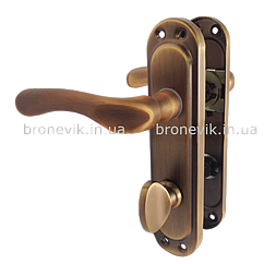 Ручка на планке PUNTO KUMRU STL kWC 62 mm AB (Бронза)