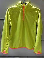 Кофта XERSION Флисовая Детская Рост 157 см Желтая на рукаве прорезь для Пальца