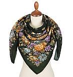 Цветы для души 1870-9, павлопосадский платок шерстяной (разреженная шерсть) с швом зиг-заг, фото 2