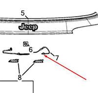 Оригинальный комплект кабелей задней двери Jeep Compass