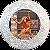 """Тарілка полікерамічна діаметром 18см. с. Демидів """" ХІІ Місяців """"Парк щасливих тварин"""""""