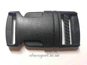 Застежка-фастекс пластиковая 25 мм Черный, фото 2