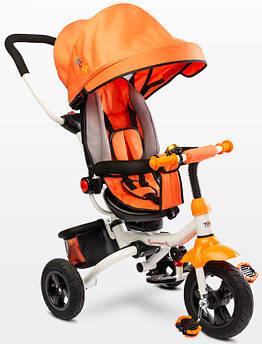 Детский трехколесный велосипед Caretero (Toyz) Wroom оранжевый