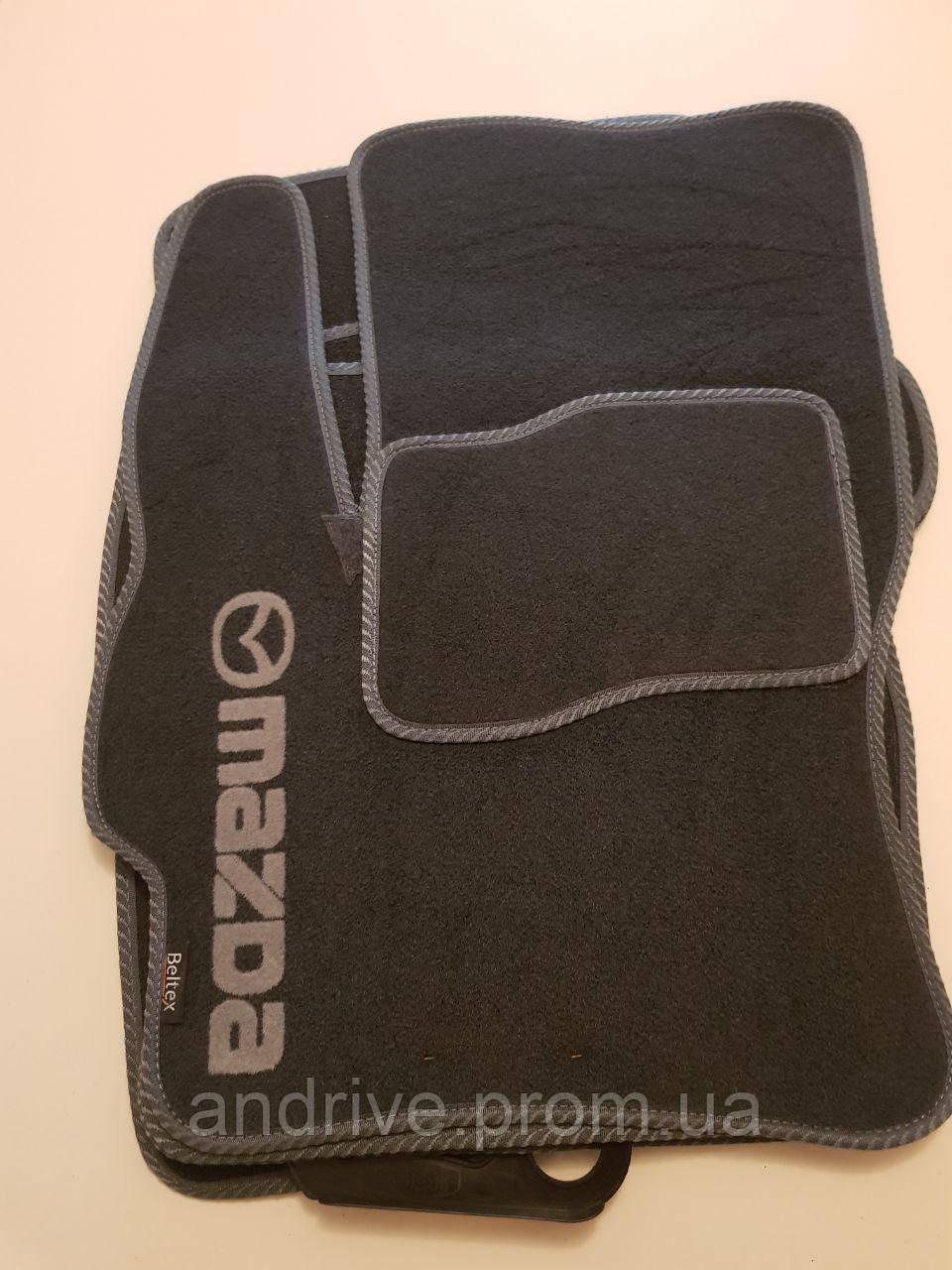 Текстильные ковры в салон Mazda 3 (2003-2008) ворсовые