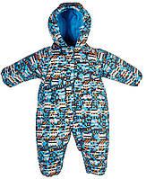 Зимний комбинезон SWB для мальчика, Salve by Gusti, голубой с оранжевым (86) (2600 SWB_блакитн./пома)