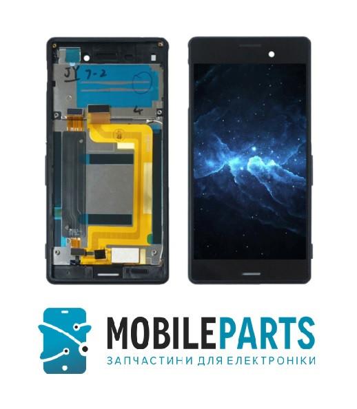 Дисплей Sony E2312 Xperia M4 Aqua Dual Sim | E2333 | E2363 c cенсорным стеклом в рамке (Черный) Оригинал Китай