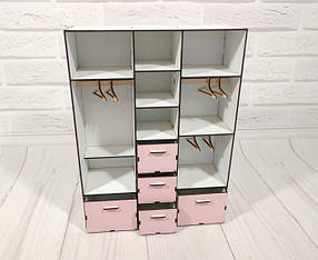 Шкаф большой с плечиками 6102 для кукол Барби