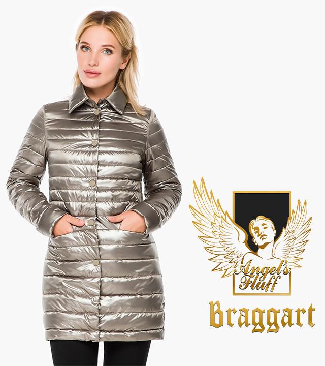 Женская куртка осень-весна длинная кварцевая