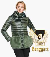 Воздуховик Braggart Angel's Fluff 15115 | Куртка женская осенне-весенняя цвет темный хаки